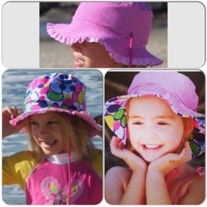 Reversible Colorful Pink Sun Hat